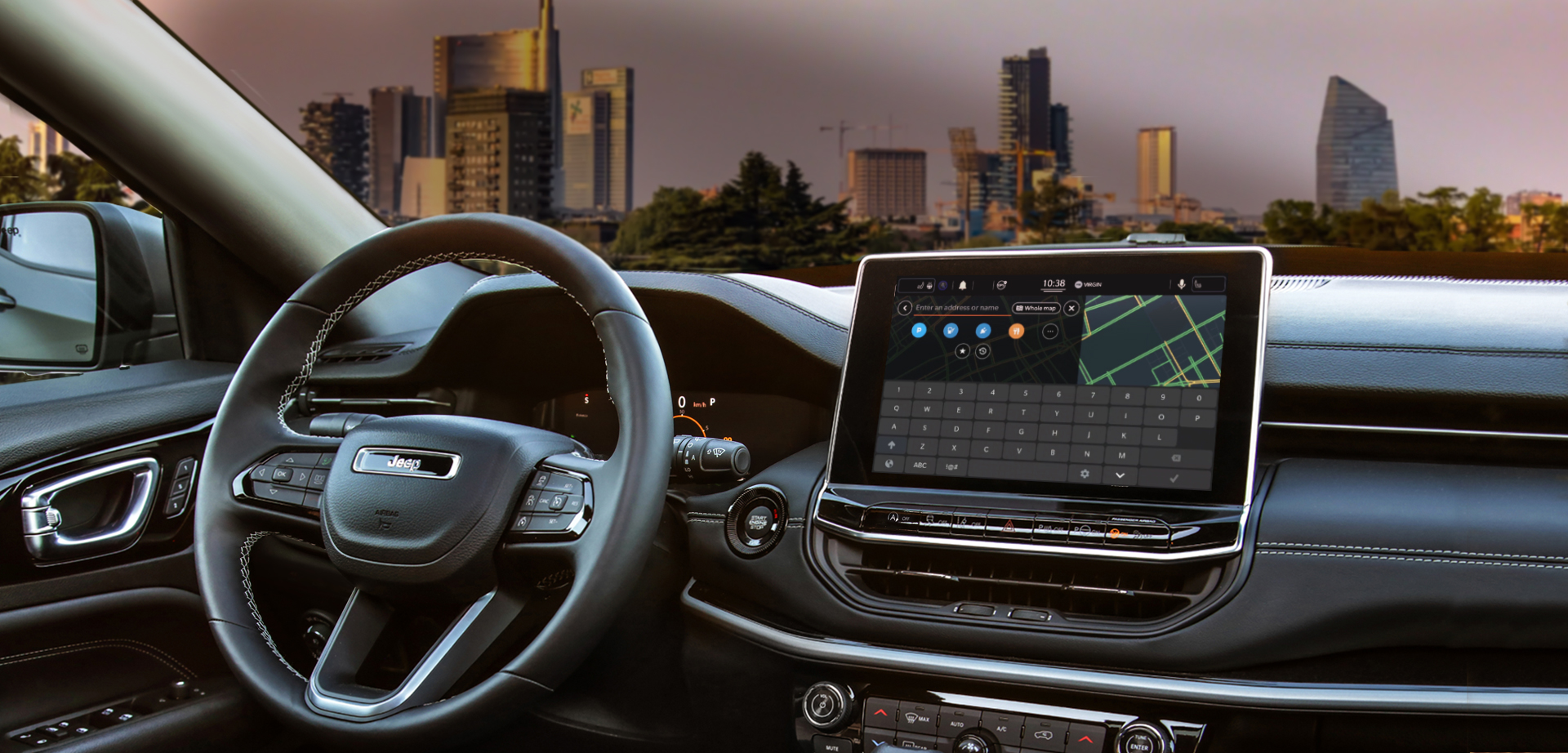 NEW UCONNECT™ INFOTAINMENT SYSTEM AND INSTRUMENT CLUSTER